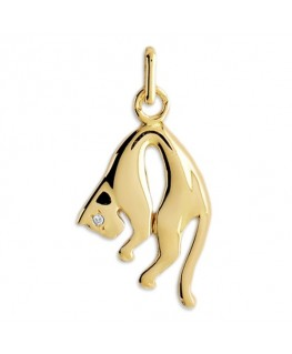 PENDENTIF PANTHERE OR LISSE