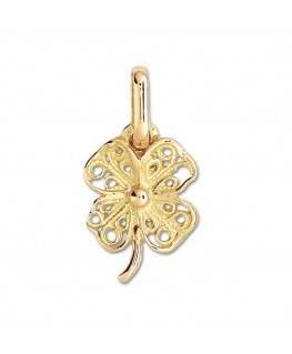PENDENTIF TREFLE A 4 FEUILLES OR