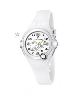 Montre CALYPSO ENFANT Bracelet Blanc Fond BL