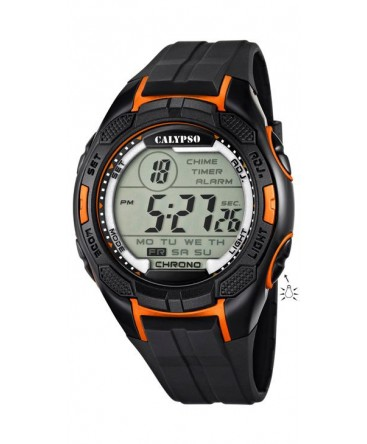Montre CALYPSO Homme DIGITAL NOIR/ORANGE