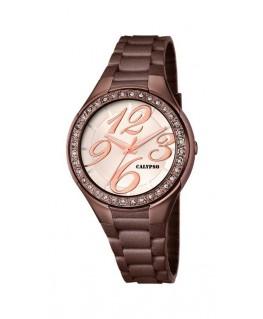 Montre CALYPSO Dame bracelet silicone marron