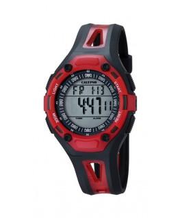 Montre CALYPSO Enfant digitale bracelet noir rouge boitier rouge