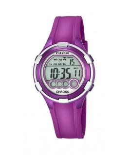 Montre CALYPSO Dame digitale bracelet silicone violet boitier violet