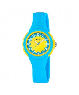 Montre CALYPSO ENFANT Bracelet Azur Fond Jaune