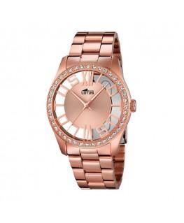 Montre LOTUS Dame bracelet acier rose fond rose argenté