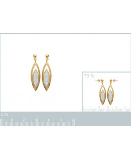 BOUCLES PL-OR PENDANTE OZ