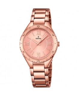Montre FESTINA Dame bracelet acier rose fond rose
