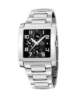 Montre FESTINA Homme multi-fonctions bracelet acier fond noir