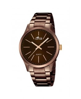 Montre LOTUS Homme bracelet acier marron fond marron