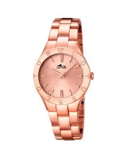 Montre LOTUS Dame bracelet acier rose fond rose