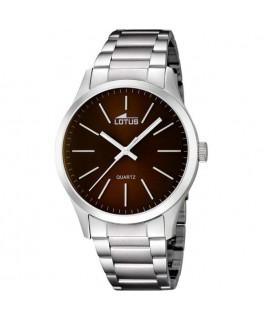 Montre LOTUS Homme bracelet acier fond marron