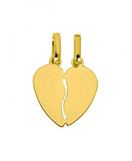PENDENTIF OR 9 CARATS COEUR SECABLE PM