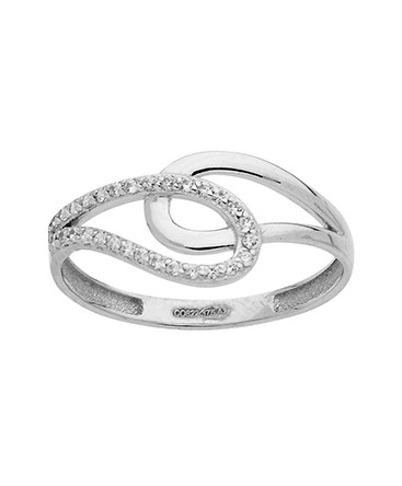 BAGUE OR BLANC 375-000 OZ