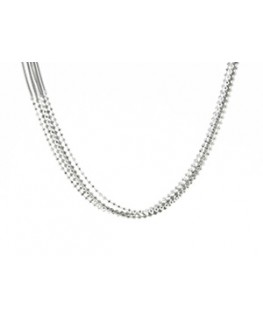 COLLIER ARGENT 3CH OMEGAT BRIL+2 OMEG NO