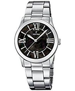 Montre FESTINA Dame bracelet acier fond noir index argenté