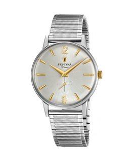 Montre FESTINA Homme Collection Extra bracelet acier fond argenté doré