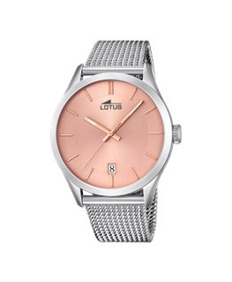 Montre LOTUS Homme bracelet acier fond rose