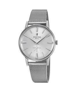 Montre FESTINA Homme Collection Extra bracelet acier maille milanaise fond argenté