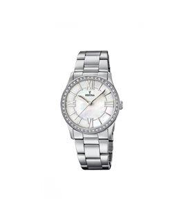 Montre FESTINA Dame bracelet acier fond blanc argenté