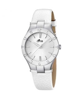 MONTRE LOTUS DAME BRC BLANC FD BL-IN