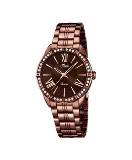 MONTRE LOTUS DAME MARRON BTE MA FD MAF