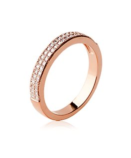 BAGUE OZ PL-OR ROSE M- SERT-