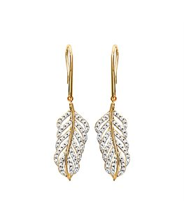 BOUCLES PL-OR FEUILLE OZ