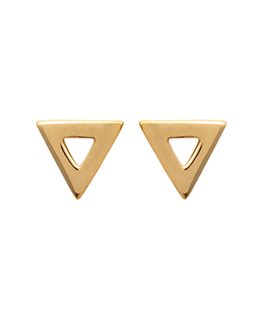 BOUCLES Plaqué Or TRIANGLE OZ
