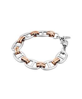 Bracelet LOTUS Dame Acier Cuivré et Argenté