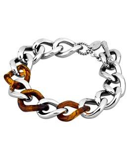 Bracelet LOTUS Dame Acier Marron et Argenté