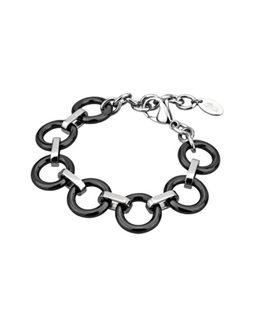 Bracelet LOTUS Dame Acier Acier Noir et Argenté