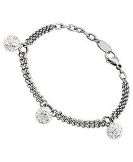 Bracelet LOTUS Dame Acier Boules pailletées