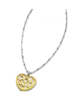 COLLIER LOTUS ACIER ET PL-OR COLLAR COEU