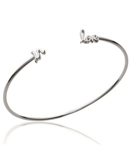 BRACELET ARGENT JONC IN LOVE