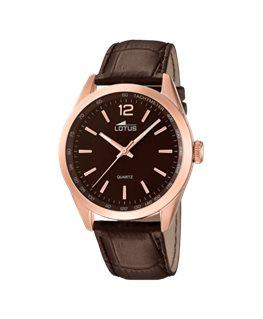 Montre LOTUS Homme bracelet cuir marron fond marron