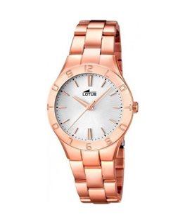 Montre LOTUS Dame bracelet acier rose fond argenté