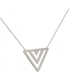 COLLIER ARGENT MOTIF 3 TRIANGLES