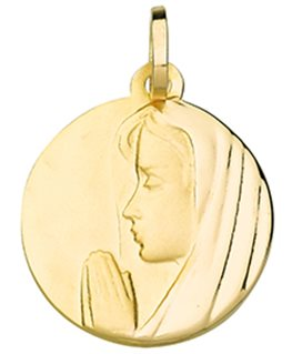 MEDAILLE OR 375-000 VIERGE PROFIL GAUCH