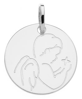 MEDAILLE OR GRIS ANGE ETOILE 375-000