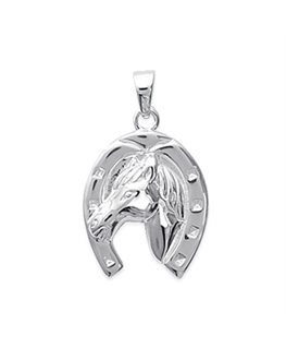 PENDENTIF ARGENT FER A CHEVAL CHEVAL