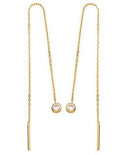 BOUCLES OR JAUNE PENDANTE OZ 9 carats