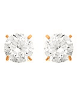 BOUCLES OR JAUNE 9 carats PUCE OZ 4MM