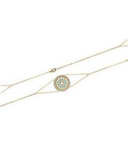 Bracelet Plaqué Or Rosace Bleue
