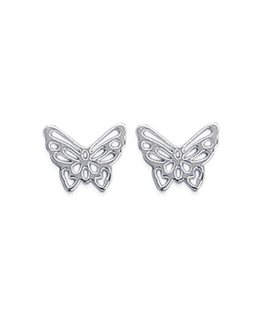 Boucles Argent Papillons