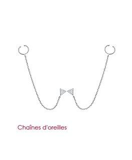 CHAINES D'OREILLES ARGENT OZ