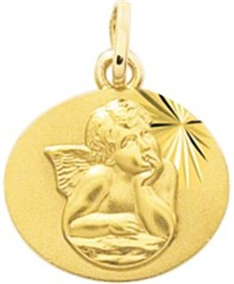 MEDAILLE OR JAUNE 18 carats ANGE
