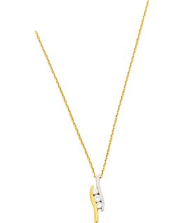 COLLIER OR 750-000 FORCAT + PENDENTIF OZ