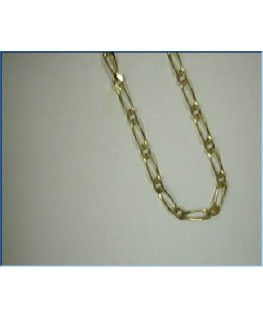 CHAINE OR 9 CARATS M-FIGARO 1+1 2-1MM