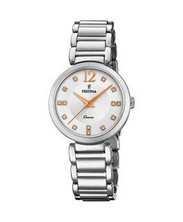 Montre FESTINA Dame Bracelet Acier Cadran Fond Blanc