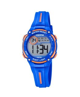 MONTRE CALYPSO ADO DIGITAL BLEU ORANGE